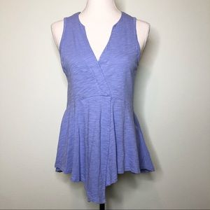 Anthropologie Left Of Center Periwinkle Tank Top S